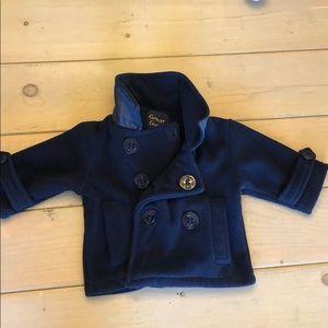 Other - Fleece navy pea coat 12 months